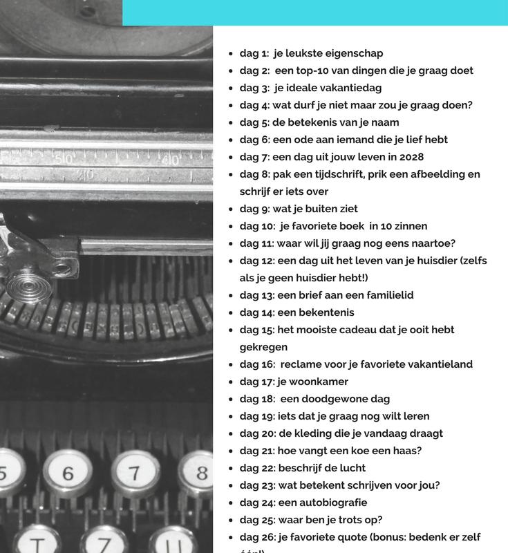 Doe mee aan de schrijfchallenge van april