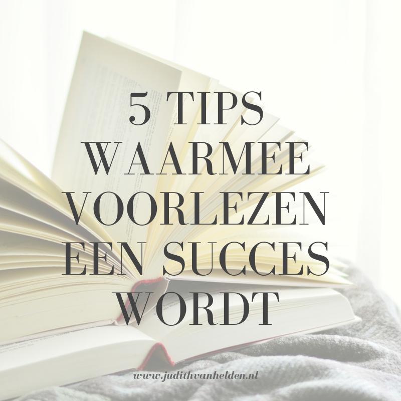 5 tips waarmee voorlezen een succes wordt